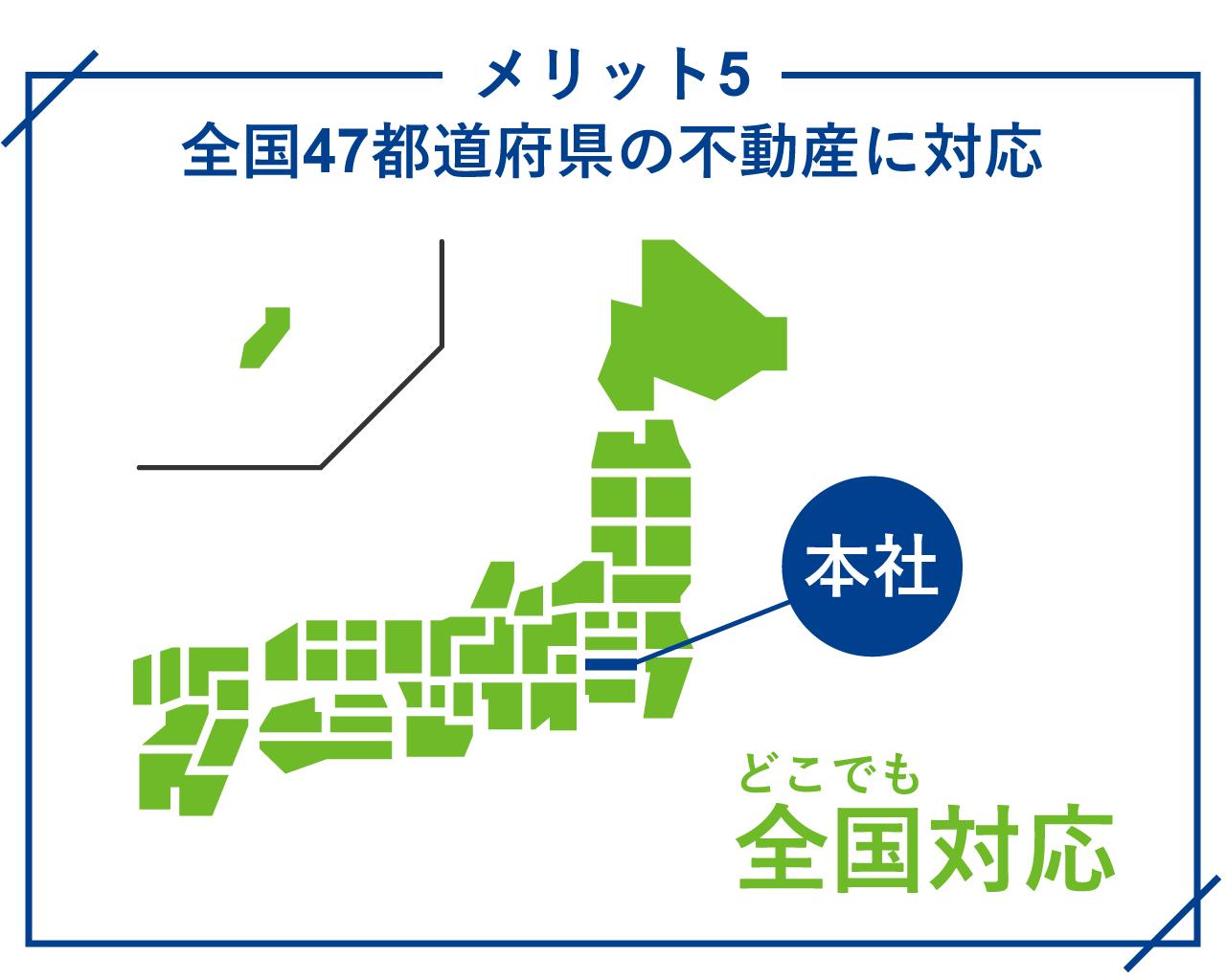全国47都道府県の不動産に対応